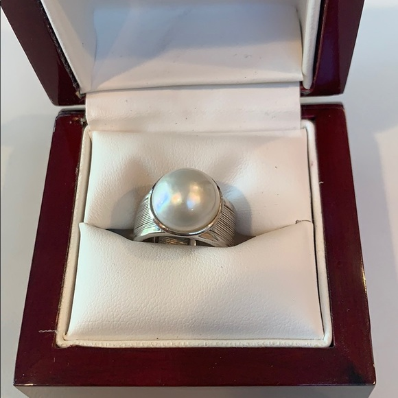 Kabella Jewelry - Kabella sterling silver Mabe Pearl Ring